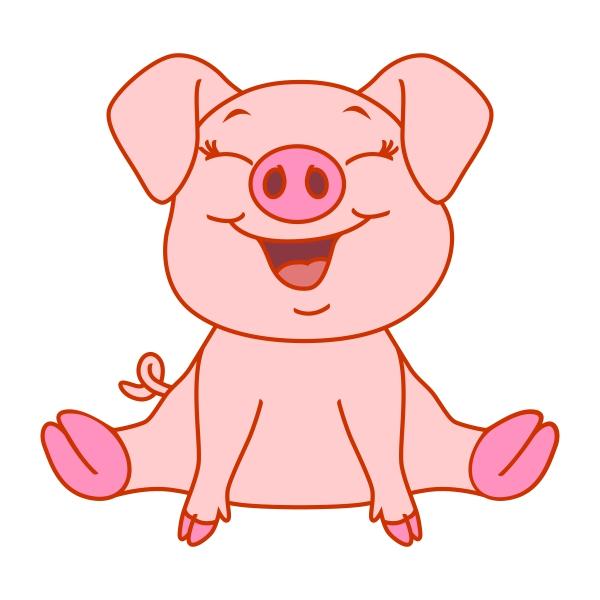 Свинка смешной рисунок
