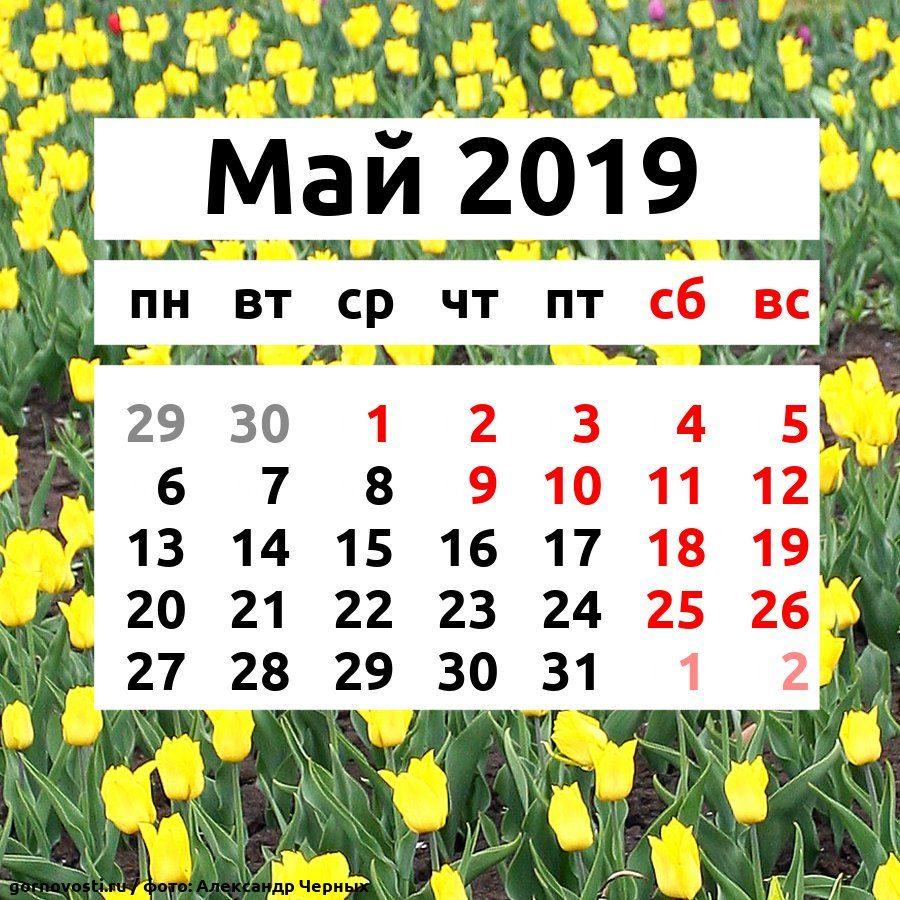Как отдыхаем в мае 2019 года